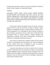 RELATÓRIO TEXTUAL ACOLHIMENTO