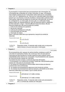 Atividade 2 - arquitetura e organização de computadores