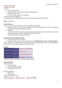 Distúrbios Ácido X Base - Análise de gasometria