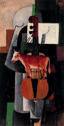 A Vaca e o violino-Kasimir Malevich