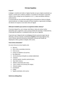 Bioquímica clínica - cirrose hepática