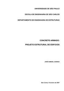 Projeto estrutural de edificios - José Samuel Giongo