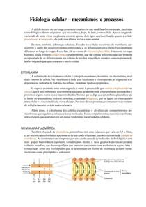 Resumo Fisiologia Celular Avançada