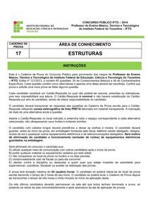 CADERNO DE PROVA 17 ESTRUTURAS