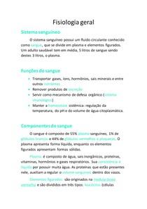 Fisiologia geral - sistema sanguineo