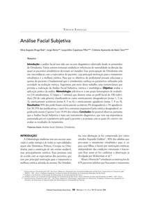 Análise Facial Subjetiva