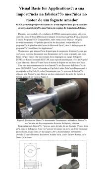 Visual Basic for Applications®: a sua importância na fabricação mecânica no motor de um foguete amador