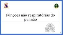 Funções não respiratórias do pulmão