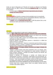 COMISSÃO Interamericana de Direitos Humanos e CORTE Interamericana de Direitos Humanos: composição, funcionamento, atribuições e histórico de decisões