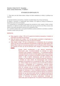 P2 - Sucessões (Civil VII)