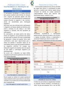 Rastreamento e prevenção de neoplasias