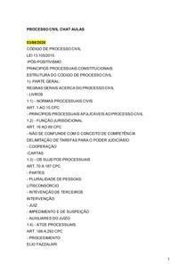 Resumo Processo Civil