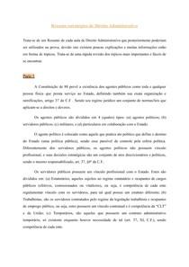 Resumo estratégico de Direito Administrativo