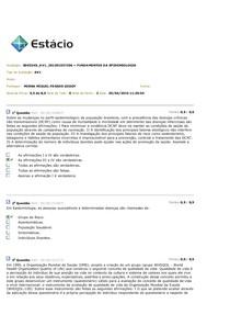 Avaliação de EPIDEMIOLOGIA AV1