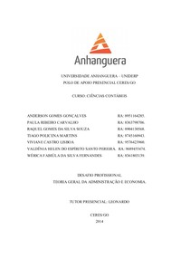 TRABALHO DESAFIO PROFISSIONAL 2º PERIODO 1º BIMESTRE.