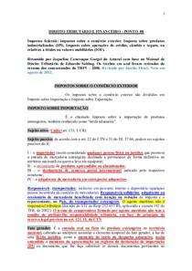 DIREITO TRIBUTÁRIO E FINANCEIRO - PONTO  08.2