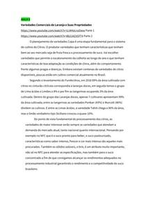 Resumo da Aula 3 Citricultura (Variedades Comerciais e Agroclimatologia)