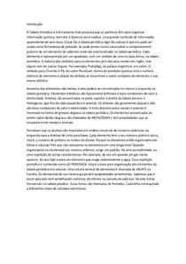 introdução trabalho quimica tabela periódica