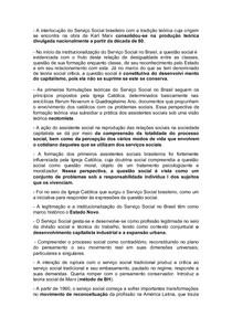 resumo serviço social surgimento e institucionalização no brasil