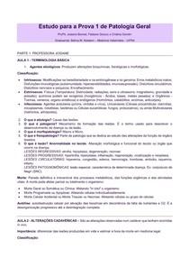 Patologia Geral Veterinária - Resumo