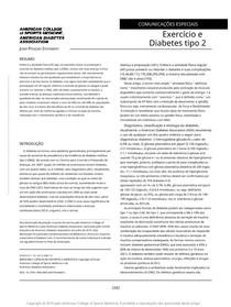 ACSM - Exercício e DM2