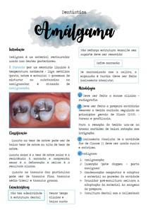 Amálgama - Dentística