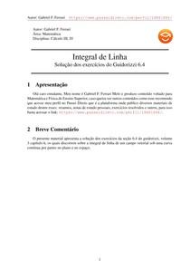 Exercícios Resolvidos Guidorizzi volume 3 capítulo 6.4