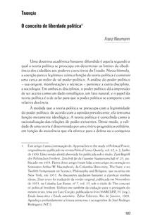 O conceito de liberdade política - Franz Neumann