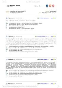 MERCADO DE CAPITAIS   AVALIANDO APRENDIZADO 8