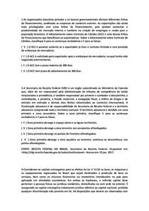 QUESTÕES OBJETIVAS DE COMÉRCIO EXTERIOR