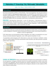 Micobacterias E Farmacologia Dos Medicamentos Tuberculostatico