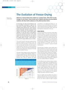 evolution freeze drying