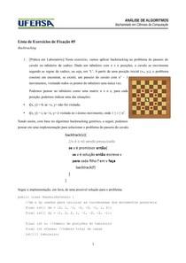 Exercícios de Fixação 05 - Backtracking - Gabarito