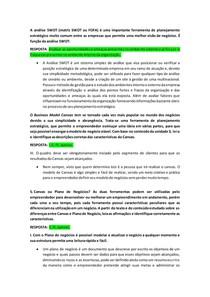 PROVA EMPREENDEDORISMO - 3º BIMESTRE