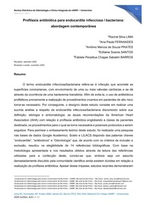 Profilaxia antibio_tica para endocardite infecciosa bacteriana - abordagem contempora^nea