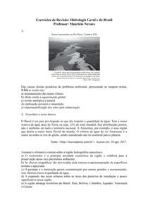 Hidrologia Geral e do Brasil