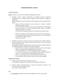 REVISÃO BIOESTATÍSTICA