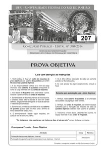 pr 4 ufrj 2015 ufrj auxiliar em administracao atividades culturais de divulgacao cientifica prova