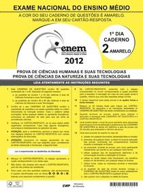 Prova Enem - 2012 - 1º Dia Caderno 2 - Amarelo