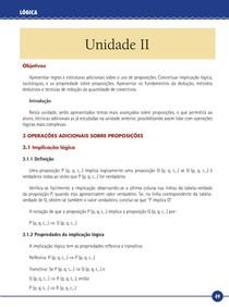 Lógica - Livro Texto - Unidade II (UNIP)