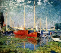 The Red Boats  Argenteuil-Claude Monet