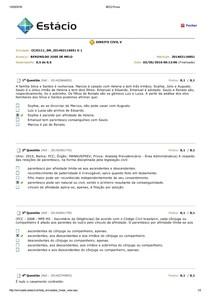 Direito Civil V - Avaliando o Aprendizado Prova 01
