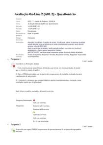 AOL 2 Gestão de Projetos UNINASSAU