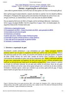 texto gene estrutura e organização UFPE