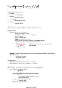 Princípios da Cirurgia Oral
