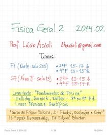 Resumo Física 2 - Prof. Lúcio Acioli UFPE - Cap12