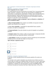 Apol 1 Corporações e Contexto Empreendedor