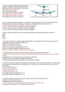 CCNA 2 - Avaliação com respostas