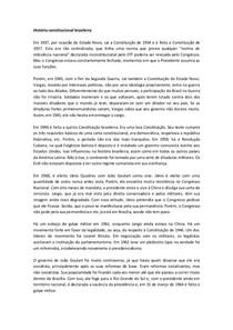 História constitucional brasileira- Thiago Varella
