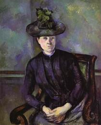 Paul Paul Cézanne - Woman in a Green Hat